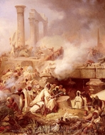Bataille D Heliopolis painting reproduction, Leon Cogniet