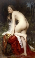 Bather painting reproduction, William A. Bouguereau