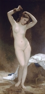 Bather (Baigneuse) painting reproduction, William A. Bouguereau