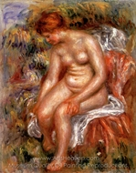 Bather Drying her Leg painting reproduction, Pierre-Auguste Renoir