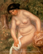 Bather Drying herself painting reproduction, Pierre-Auguste Renoir