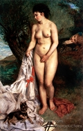 Bather with Griffon Terrier painting reproduction, Pierre-Auguste Renoir