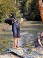 Bathers painting reproduction, Gustave Caillebotte