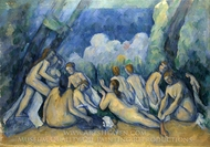Bathers (Bathing Women) painting reproduction, Paul Cézanne