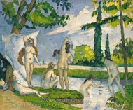 Bathers painting reproduction, Paul Cézanne