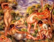 Bathers painting reproduction, Pierre-Auguste Renoir