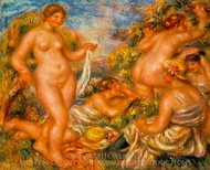 Bathers (Les Baigneuses) painting reproduction, Pierre-Auguste Renoir