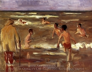 Bathers on the Beach at Scheveningen painting reproduction, Max Liebermann