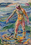 Bathing Man painting reproduction, Edvard Munch