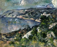 Bay of l'Estaque painting reproduction, Paul Cézanne