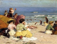 Beach Scene painting reproduction, Edward Potthast