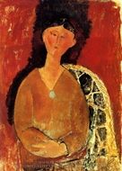 Beatrice Hastings Assise painting reproduction, Amedeo Modigliani