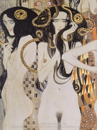 Beethoven Frieze - Die Gorgonen painting reproduction, Gustav Klimt