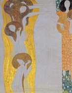 Beethoven Frieze - Die Kunste painting reproduction, Gustav Klimt