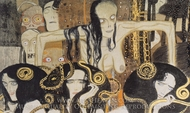 Beethoven Frieze - Gorgonen painting reproduction, Gustav Klimt