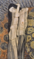 Beethoven Frieze - Nagender Kummer painting reproduction, Gustav Klimt