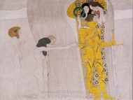 Beethovenfries painting reproduction, Gustav Klimt