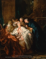 Before the Ball painting reproduction, Jean-Francois De Troy