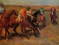 Before the Race painting reproduction, Edgar Degas