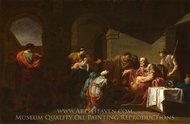 Belisarius receiving Hospitality from a Peasant painting reproduction, Pierre Peyron