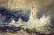 Bell Rock Lighthouse painting reproduction, J.M.W. Turner