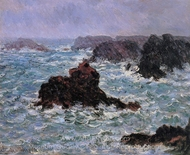 Belle-Ile, Rain Effect painting reproduction, Claude Monet