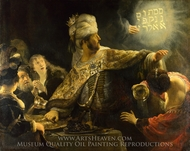 Belshazzar's Feast painting reproduction, Rembrandt Van Rijn