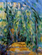 Bent in Forest Road painting reproduction, Paul Cézanne