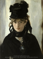 Berthe Morisot painting reproduction, Edouard Manet
