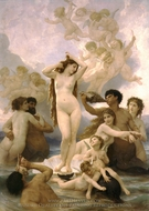 Birth of Venus (Naissance de Venus) painting reproduction, William A. Bouguereau