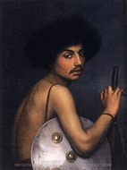 Bishari, Bust of a Warrior painting reproduction, Jean-Leon Gerome