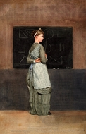 Blackboard painting reproduction, Winslow Homer
