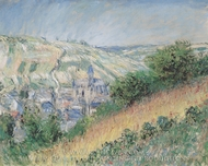 Blick auf Vetheuil painting reproduction, Claude Monet