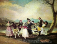 Blind Man's Bluff painting reproduction, Francisco De Goya