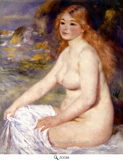 Pierre-Auguste Renoir, Blonde Bather oil painting reproduction