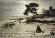Blow Blow Thou Winter Wind painting reproduction, John Everett Millais