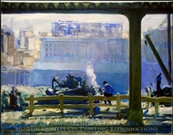 Blue Morning painting reproduction, George Bellows