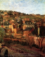 Blue Roofs of Rouen painting reproduction, Paul Gauguin