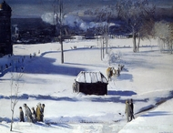 Blue Snow, the Battery painting reproduction, George Bellows
