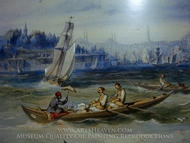 Boats painting reproduction, Amedeo Preziosi