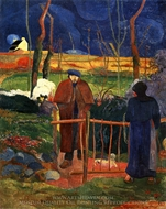 Bonjour, Monsieur Gauguin painting reproduction, Paul Gauguin