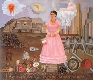 Borderline between Mexico and the United States painting reproduction, Frida Kahlo