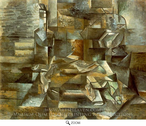 Georges Braque, Bottle and Fishes oil painting reproduction