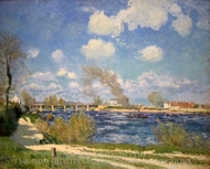 Bougival painting reproduction, Alfred Sisley