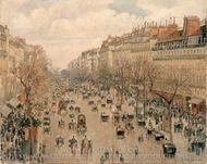 Boulevard Monmartre in Paris painting reproduction, Camille Pissarro