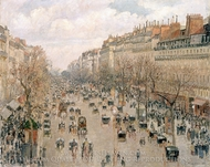 Boulevard Montmartre painting reproduction, Camille Pissarro