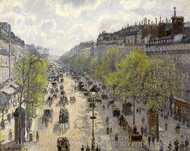 Boulevard Montmartre, Spring painting reproduction, Camille Pissarro
