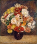 Bouquet of Chrysanthemums painting reproduction, Pierre-Auguste Renoir