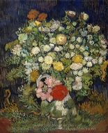 Bouquet of Flowers in a Vase painting reproduction, Vincent Van Gogh