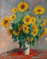 Bouquet of Sunflowers painting reproduction, Claude Monet